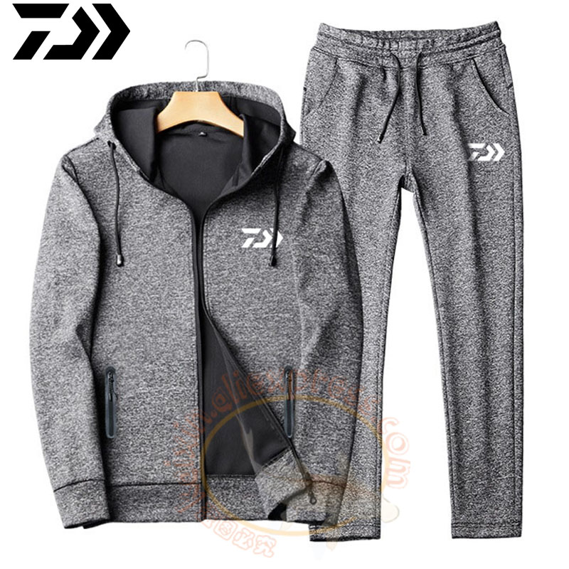 2019 New Fishing Hooded Jacket DAIWA Pants Coat DAWA Jacket Fishing Clothing Trousers Fishing Sweatshirt Set Fishing Clothes