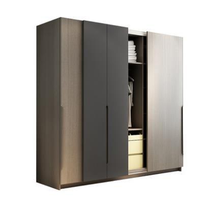 Wardrobe storage large capacity fashion wardrobe double hanging assembly cabinet reinforcement folding wooden font b closet
