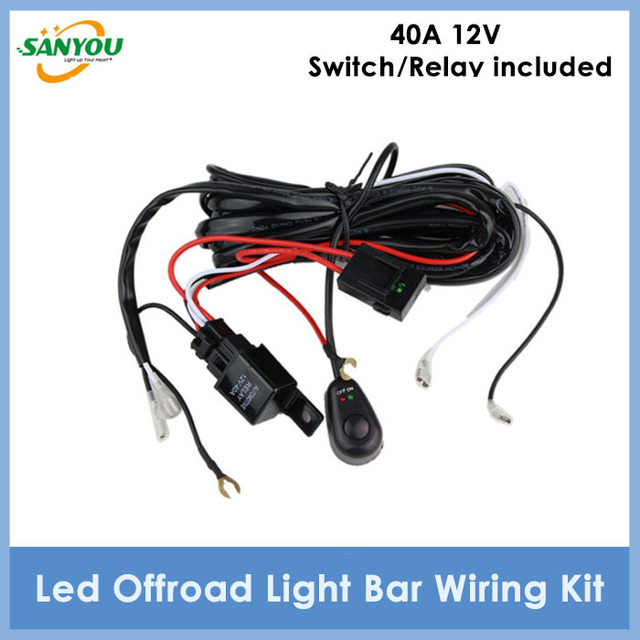 2015 new arrival 1pc 40a 12v led wiring harness cables set wiring rh aliexpress com 12 Volt LED Light Schematic 12v led wiring diagram