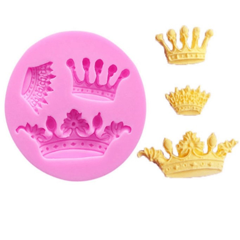 Crown Shape Silicone Mold Cake Chocolate Kitchen Baking Mould Dining Bar Fondant Cake Tools Sugarcraft Cake Decorating Molds in Cake Molds from Home Garden