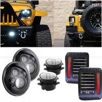 40W 7INCH H4 H3 LED Headlight 4'' Fog Light Led Tail Light Lamp for Jeep Wrangler JK TJ CJ LJ