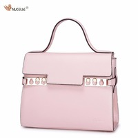 New NUCELLE Brand Design Fashion Macarons Candy Colors Genuine Leather Women Handbag Shoulder Bags Gift For