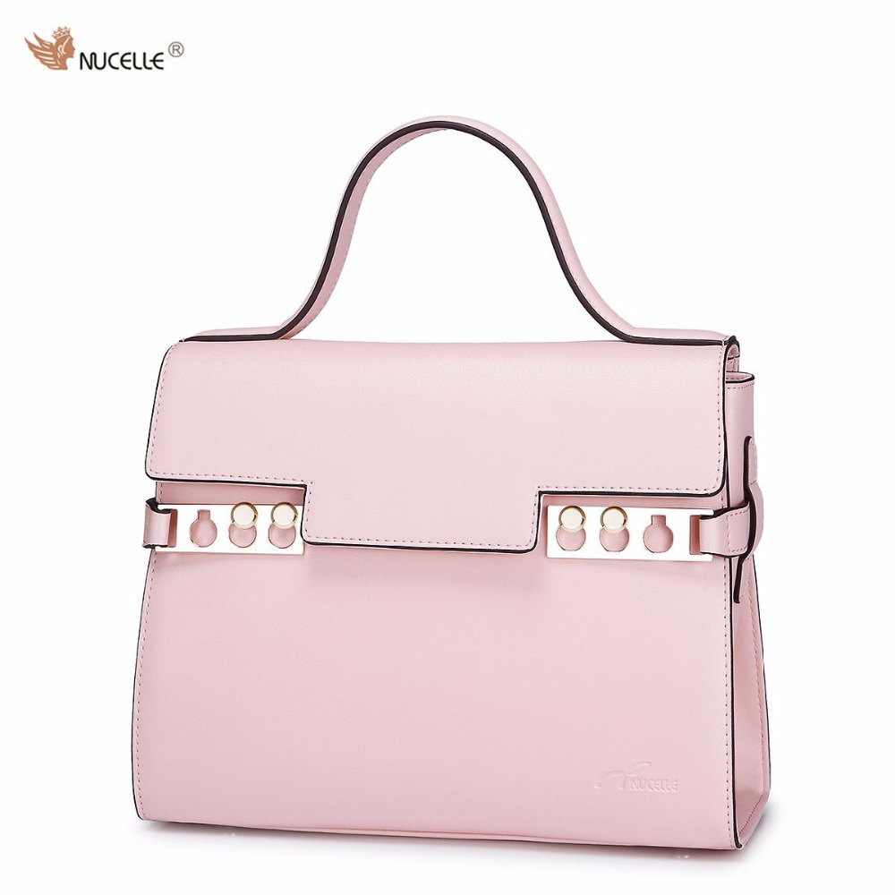 NUCELLE Brand New New Design Fashion Macarons Candy Colors Cow Leather Women Handbag Shoulder Bags Purses Gift For Girl