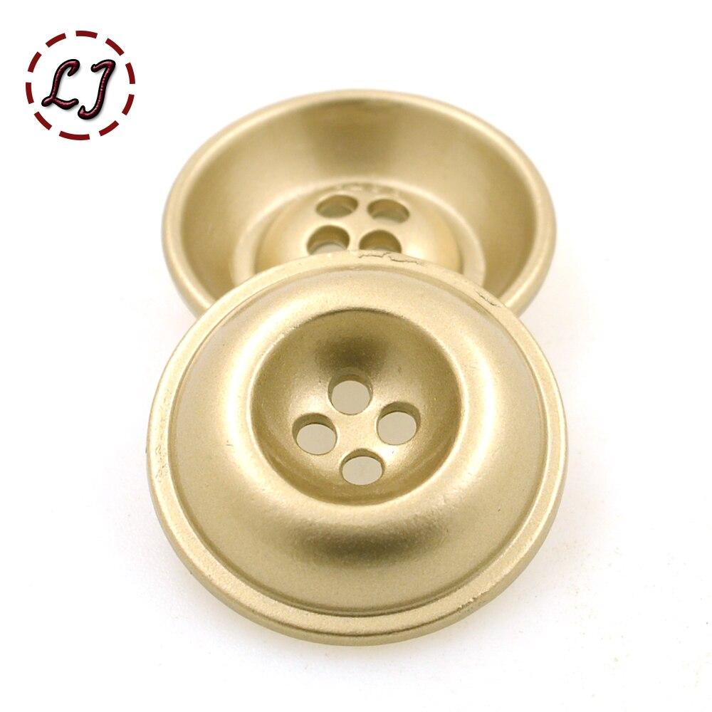Hot sale fashion sewing button 10pcs/lot snap buttons matt gold bowl round metal button T-shirt suit overcot buttons DIY