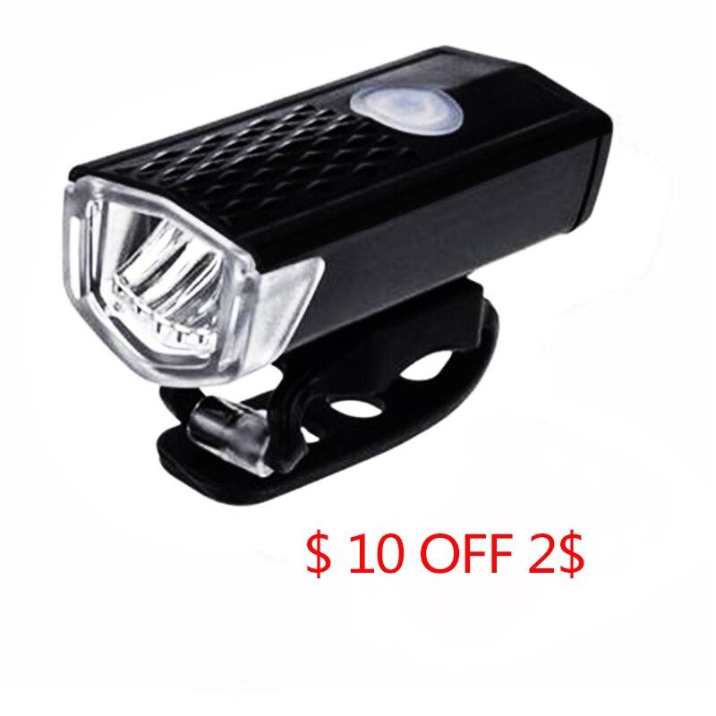 Bike Lights 300 Lumens Handlebar USB Charging Battery Bicycle Light  Headlights Waterproof Taillights