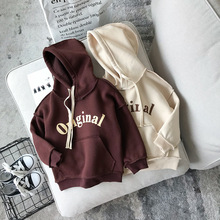 Girls Hooded Shirt Long Sleeve Letter Printed Winter Shirt for Kids Girl Cool Tops Fashion Outfits Children Clothing Drop Ship