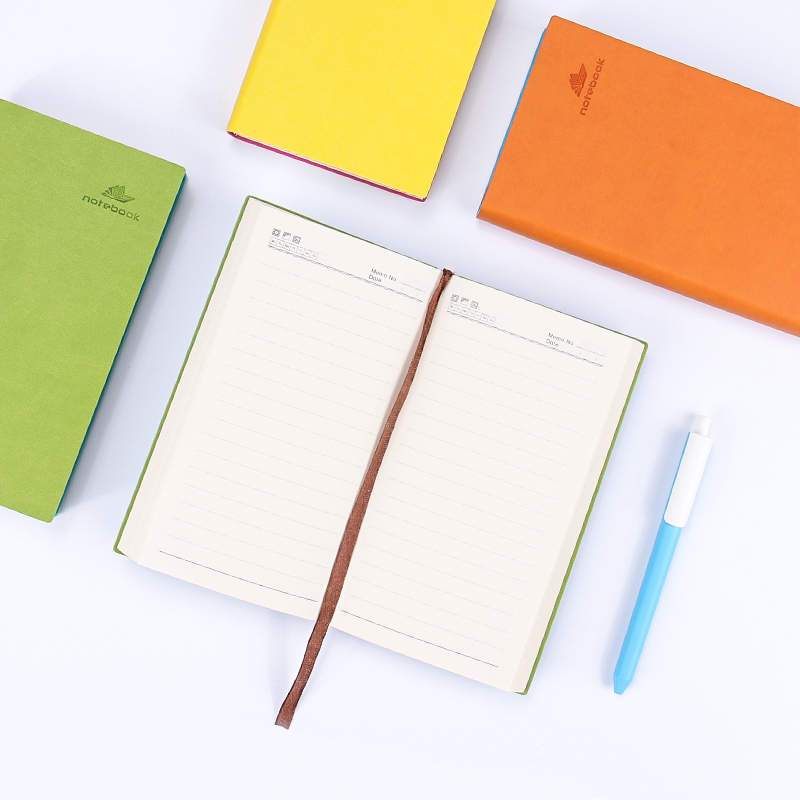 HUA JIE B5 Macaron Writing Notebooks A5 360 Sheets Hardcover Business Composition Books A6 Stitching Binding PU Notepads Memos brieger n business writing b1 c2