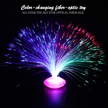 Stars Shine In The Dark New Kids Toy 1PCS Color Optical Fiber Yarn Glowing Toys Flash LED Lights Glow In The Dark Toys Child E