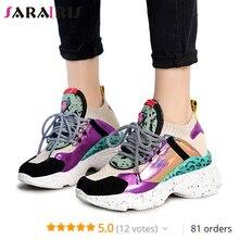 SARAIRIS 2019 New 35-42 Summer Genuine Leather Suede Platform Sneakers Women Horsehair Decorating Casual Flat Women Shoes Woman