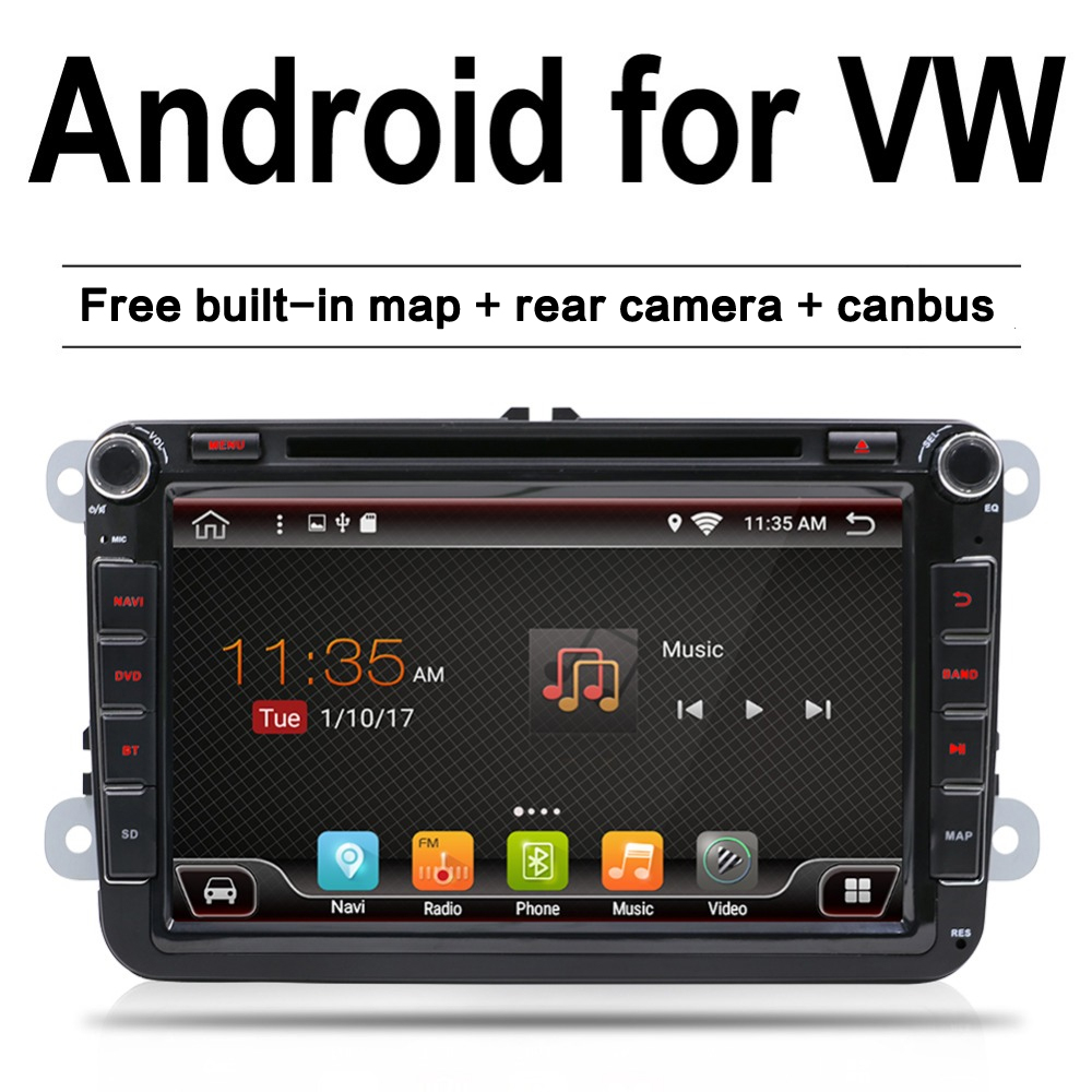 Android 7 1 font b car b font dvd vw gps navigation Wifi Bluetooth autoradio 2