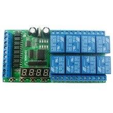 8ch تيار مستمر 12 فولت متعددة الوظائف تأخير وحدة دورة الموقت التبديل للطاقة كاتم صوت المحرك LED PLC مخرطة