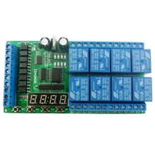 8ch DC 12V Multifunction Delay Module Cycle Timer Switch for Power sequencer Motor LED PLC Lathe