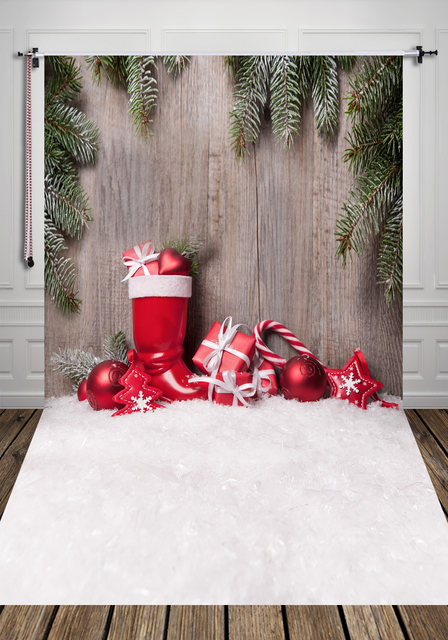 HUAYI Christmas Gift Background For Photo Studio Childrens Backdrop Photography Vertical Xt