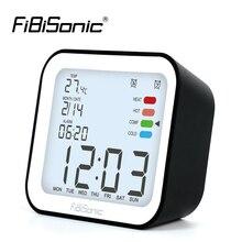 LCD דיגיטלי שעונים מעורר עם נודניק זמן שולחן שעון מעורר עם טמפרטורת תאורה אחורית לוח השנה שולחני אלקטרוני