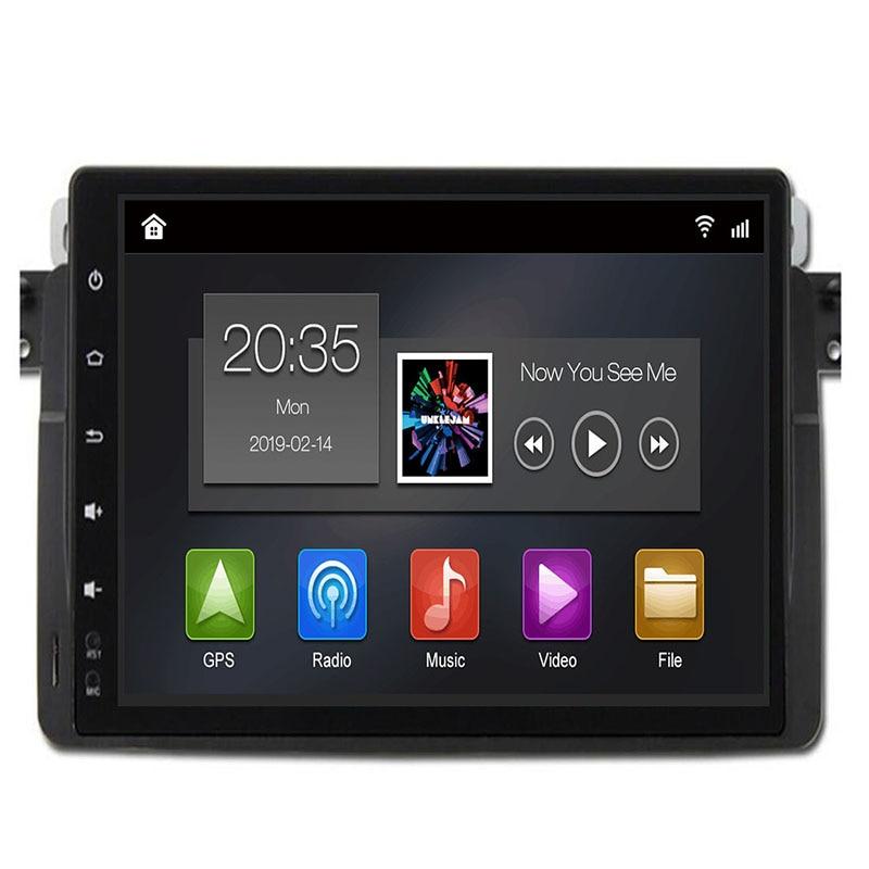 1024*600 9 ''Android 9.0 Quad Core 1Din voiture DVD pour BMW E46 318 325 320 voiture gps DAB M3 3 série avec Radio Navi