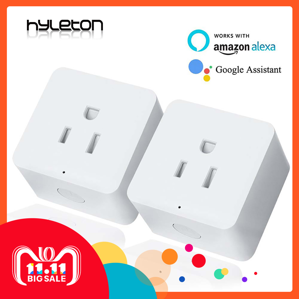 2 Pack Hyleton smart plug 10A Home Automation wifi socket Remote Control power switch Working with Amazon Alexa and Google US/UK oittm us wifi smart power socket smart home automation smart plug wall socket app remote control work with alexa google home