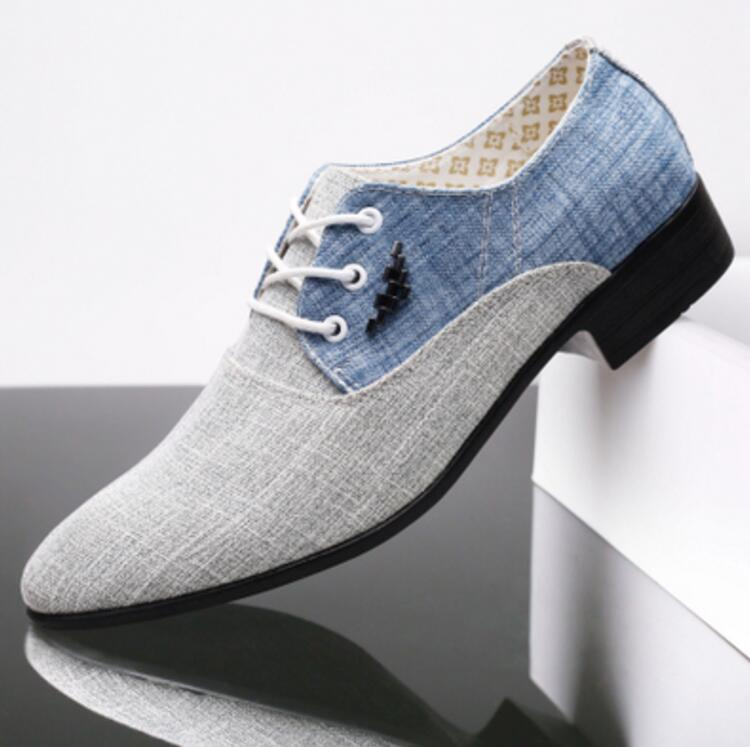 zapatos hombre vestir Men wedding canvas Casual Shoes Breathable canvas Leather Loafers 2018 Mens Flats Shoes chaussures hommes new mens shoes casual black sneakers leather shoes men loafers white platform driving shoes for men trainers chaussures hommes