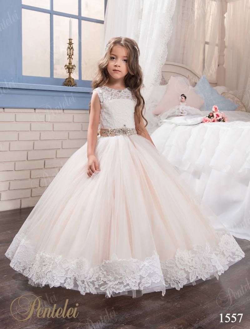 Buy 2017 lace blush flower girl dresses for Wedding dresses for young girls