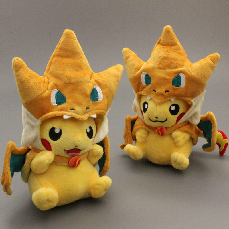 Pikachu Cosplay Charmander Plush Toys Stuffed Animal Doll Toy 10'' Brinquedo 2 Styles to Choose 5 styles how to train your dragon 2 toothless monstrous nightmare gronckle deadly nadder doll plush stuffed toy