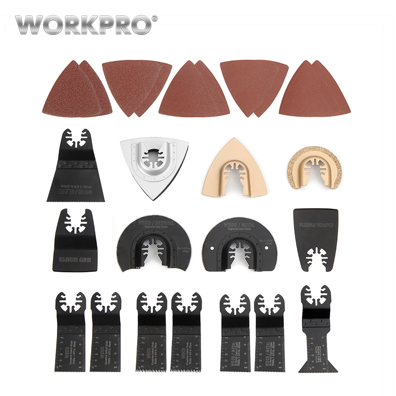 WORKPRO 25 PZ Accessori Per Elettroutensili Lama Oscillante Multi tool Kit Utensile abrasivo Accessori