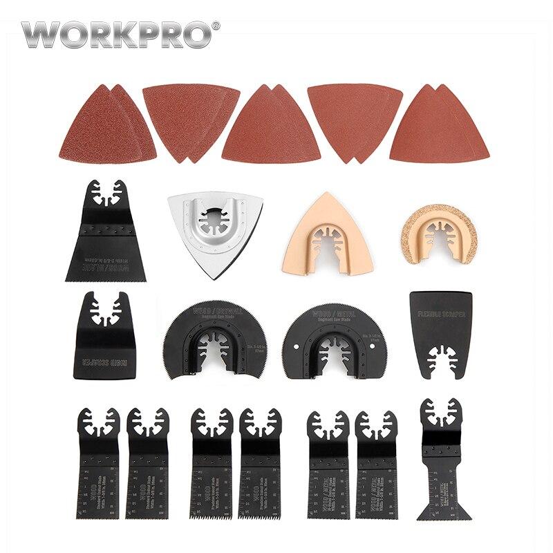 WORKPRO 25 Unid accesorios de herramientas eléctricas Sierra oscilante Multi Tool Kits herramienta abrasiva Accesorios