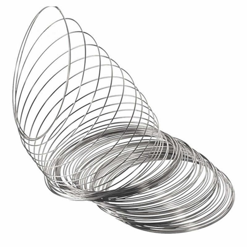 New100 boucles fabrication de bijoux mémoire fil métallique bobine en acier perles résultats broches Bouquet blanc Bracelet bracelets