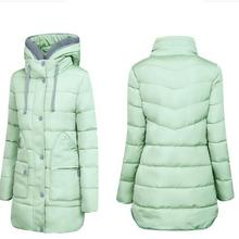 2016 Middle aged Women Medium long Cotton Down Jacket Winter Thicken Cotton padded Jacket Removable Rooded