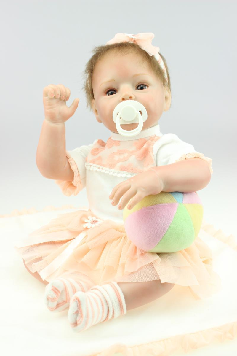 55cm New Silicone Reborn Baby Doll Toys Lifelike Handmade Simulation Toddler Baby Dolls Kid Child Christmas Birthday Gifts silicone vinyl reborn baby doll toys kids child birthday christmas new year gifts high quality lifelike toddler girl dolls