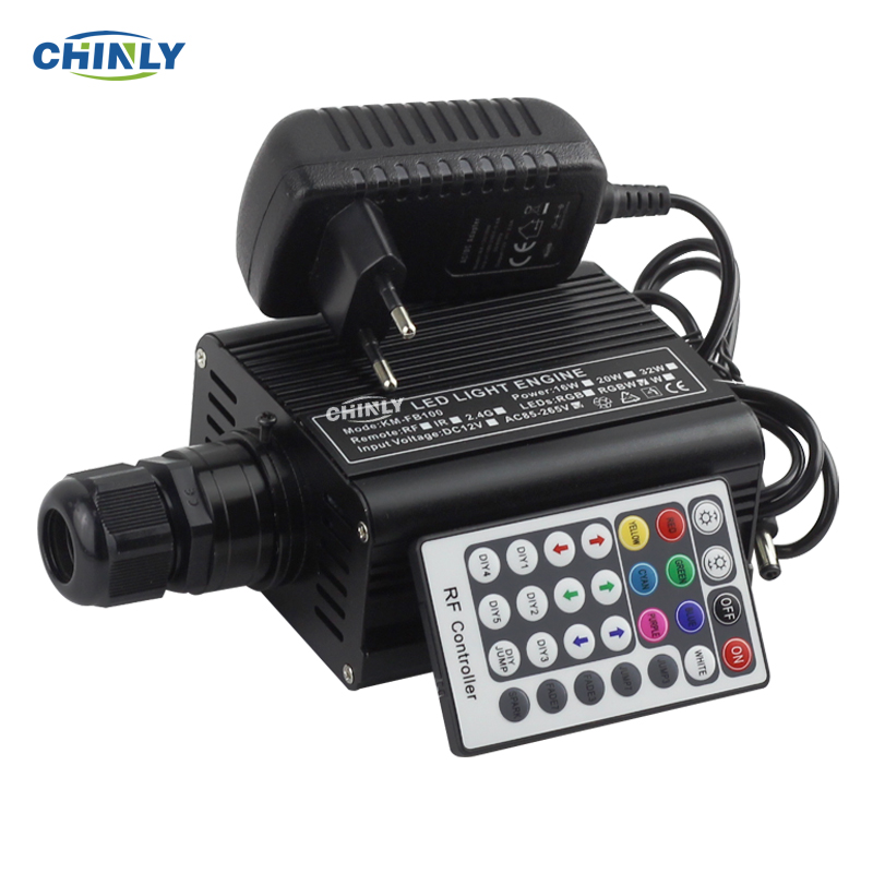 RGBW 16W LED Fiber Optic Engine Driver With 28key RF Remote Controller For All Kinds Fiber Optics