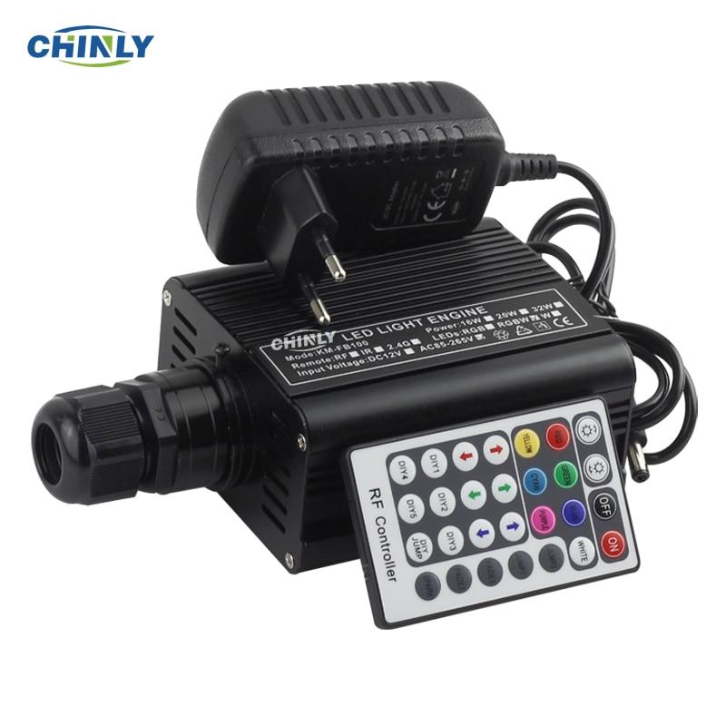 Conducteur de moteur à Fiber optique RGBW 16 W LED avec télécommande RF 28key pour toutes sortes de fibres optiques