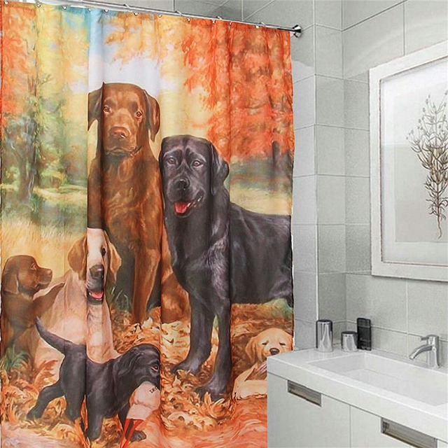 Charmant Waterproof Lovely Labrador Retriever Dog Shower Curtain Tub Curtain Bath  Bathing Sheer For Home Decorations With