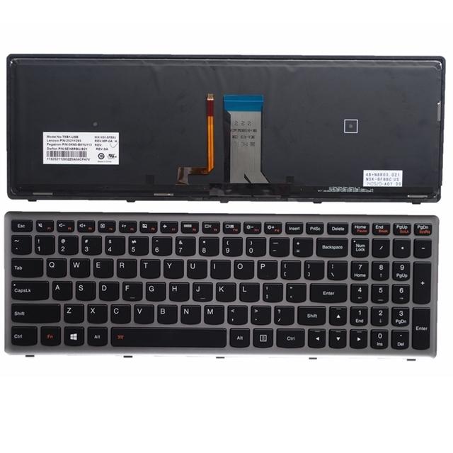 Ser negro nuevo sustituya teclado del ordenador portátil para lenovo u510 u510-ifi z710 retroiluminación
