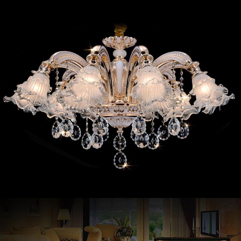 US $63.75 15% di SCONTO|Illuminazione industriale lampadario soggiorno  lampada di cristallo moderna lampadari camera da letto moderna  illuminazione ...