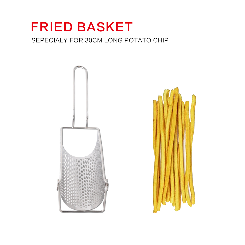 Ultra long manual fries machine assistant fried basket stainless steel material can undertake 30cm long fries