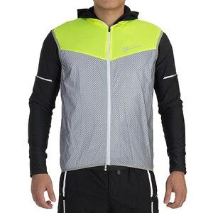 Image 3 - ROCKBROS Running Reflective Vest Outdoor Sport Safety Jerseys Cycing Bike Sleeveless Riding Bicycle Vest Men Women Light Vests