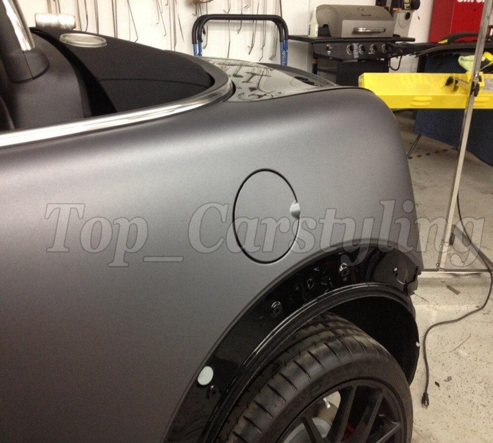 купить 1.52x5m/roll High quality matt grey vinyl film roll car wrap gray matt vinyl film with bubble free & Free Shipping по цене 5146.06 рублей