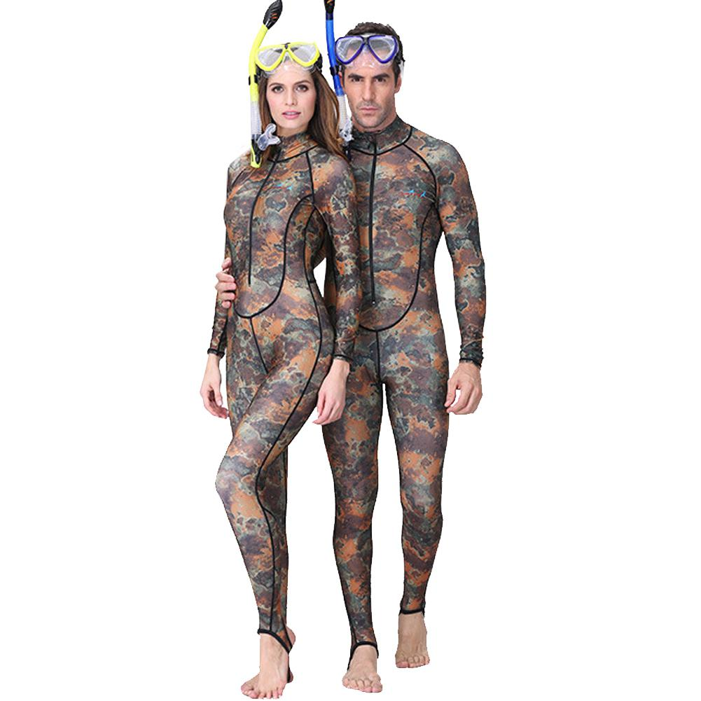 Homens e Mulheres 3 HobbyLane mm Camuflagem Neoprene Moda One piece-Fechamento Com Zíper Protetor Solar Mergulho Wetsuit Terno Swimwear Quente