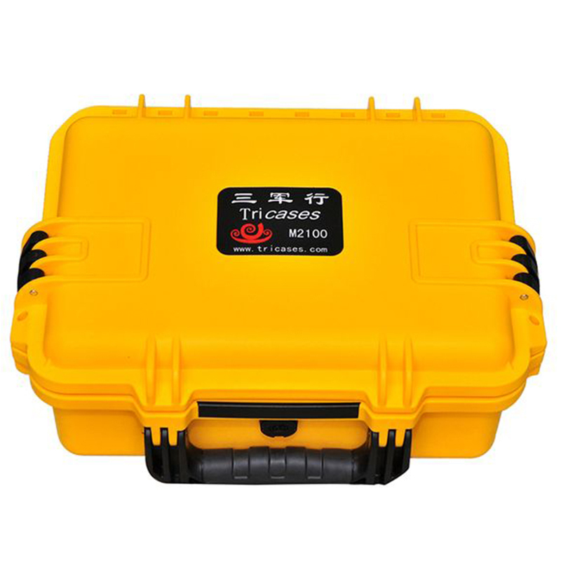 Tricases factory OEM/ODM ip67 USA military standard hard PP palstic small tool cases with strap M2100 tricases factory oem odm waterproof hard plastic case profession trolley tool cases m2360