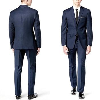 Custom Made Hot Sale Slim Fit Two-Piece Weding Men Tuxedos 2 Piece Wedding Groom Formal Suits Men Suits (Jacket+Pants) L625