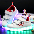 2017 nuevos niños de la manera usb recargable led luminoso niños casual shoes sneakers boys and girls brillante luz