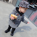 Kids Korean Boy Down Mouth Pattern Parkas Hooded Coat 2017 Winter New Fashion and Cute Coat Jacket for Baby Boys Hot Sale