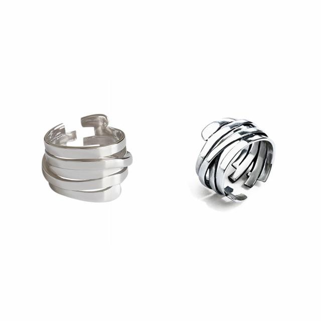 Persönlichkeit Übertrieben Silber Farbe Unregelmäßige Geometrische Ringe Für Frauen Engagement Schmuck Mädchen Open Finger Ringe