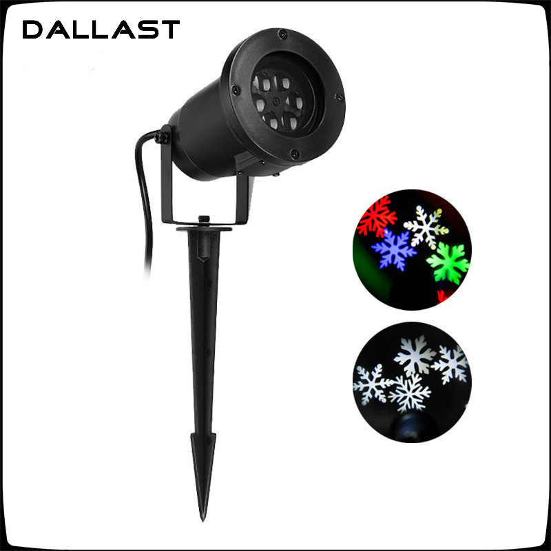 Garden Light LED Snowflake Projector Outdoor Holiday Light White red blue green Color Waterproof  Snow Laser Christmas DALLAST waterproof projector lamps rgbw snowflake led stagelights outdoor indoor decor spotlights for christmas party holiday decoration