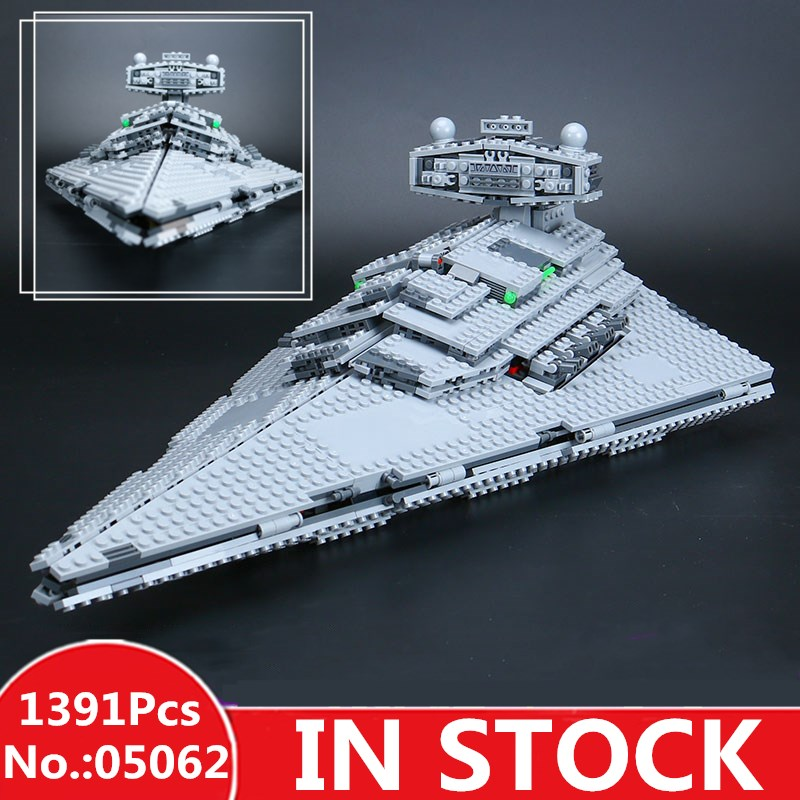 H&HXY 05062 1391 Pcs star Series The Super Fighting Destroyer wars Set Building Blocks Bricks lepin Toy Christmas Gift 75055