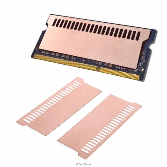 Чистый медный Ноутбук игровой ноутбук радиаторный накопитель охлаждающий жилет 0,5 мм радиатор оперативной памяти кулер теплоотвод