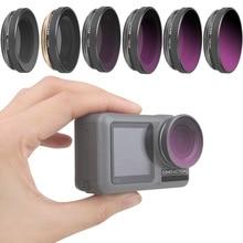 Osmo 액션 용 광학 유리 렌즈 필터 uv cpl nd 4 8 16 32 pl dji osmo 액션 렌즈 액세서리 용 중립 밀도 필터