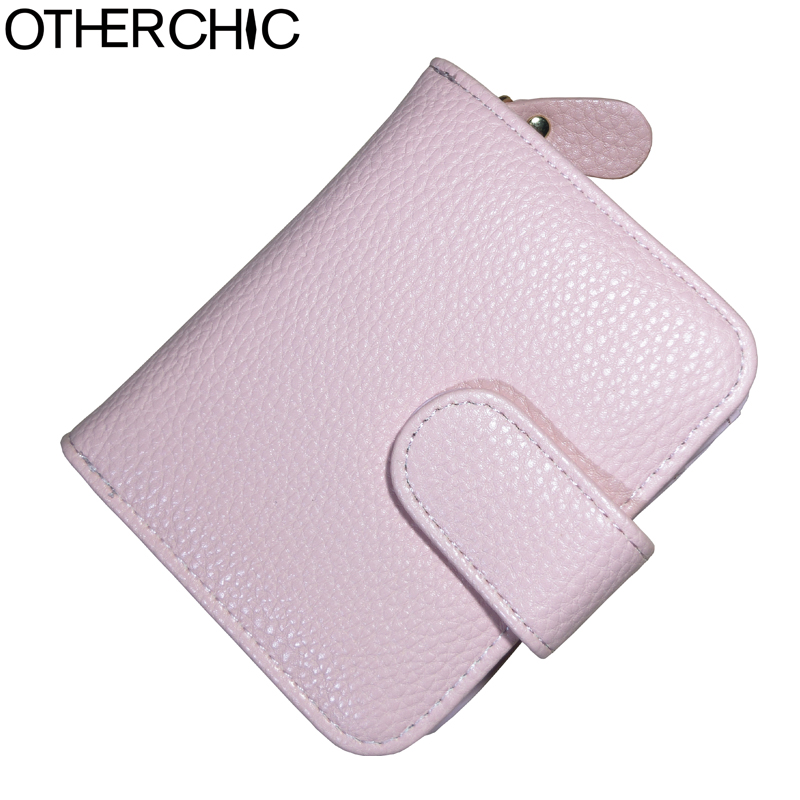 OTHERCHIC Faux Leather Women Short Wallets Ladies Small Wallet Zipper Coin Women Purse Wallet Female Purses Money Clip 6N01-04 vintage women short leather wallets stylish wallet coin card pocket holder wallet female purses money clip ladies purse 7n01 18