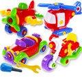 Montagem do enigma Brinquedo Sábio Finja Enigma Inteligente Helicópteros Motos Car Avião Modelo Buliding Baby Kid Aprendizagem Brinquedos Ferramenta