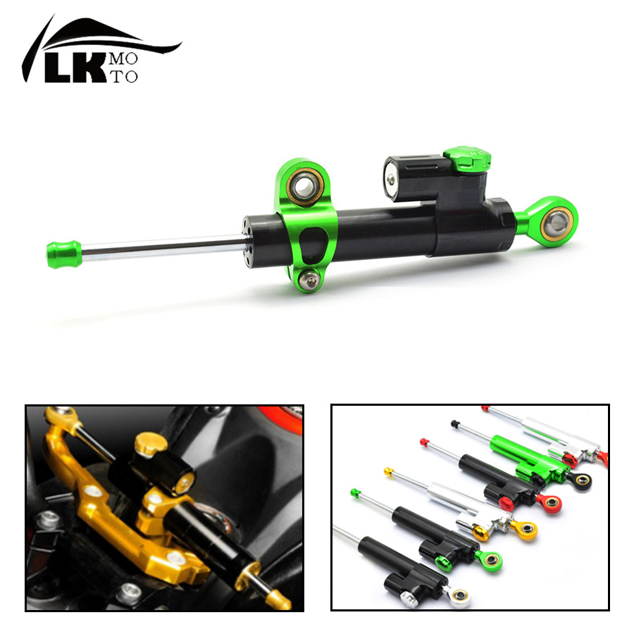 Universal CNC aluminum Steering Stabilizer Damper Linear Reversed Safety Control For ktm 690 smc  yamaha mt03  MT-07 / FZ-7 mt09 universal motorcycle olhins steering damper aluminum alloy steering damper stabilizer linear reversed safety control 5 colors