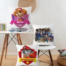 Pateó la Patrulla Canina Cachorro de dibujos animados funda de cojín patrullando Everest Perro Regalos de Los Niños funda de almohada Cojines Decorativos